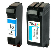 Non-OEM Replaces For HP 15 & 78  Officejet V40 V45 5110 Ink Cartridges