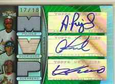 2007 Topps Triple Threads Emerald  Autograph  & Game Used Jersey MVP #17/18