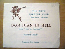 .Vintage Arts Theatre Club Programme: DON JUAN IN HELL by Bernard Shaw