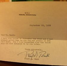 Pearl S. Buck The Good Earth 1931 1st Edition 1st Printing Signed Letter RARE DJ