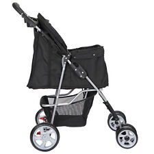 Dog Stroller Pet Travel Carriage w/Detachable Carrier Cart &Cup Holder 4 Wheel
