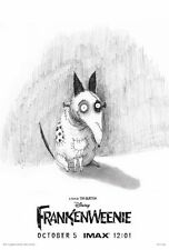 IMAX FRANKENWEENIE 12 x 18 Original Promo Movie Poster TIM BURTON