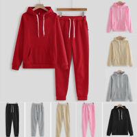 Fashion Women Hooded Sweatshirt Pants Set Tracksuit Sport Suit Top+Trouser Pants