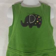 Gymboree Green Fleece Elephant Jumper Dress 3T