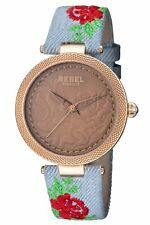 Rebel Women's RB112-8191 Carroll Gardens Multi-Colored Material Wristwatch