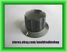 "Vintage 1-1/2"" Black Bakelite Daka-Ware brass shim Knob, Guitar Amp ham radio"