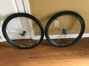 Mavic 36 H 117 SUP Pair ~2 Rims Front/Rear With Tires & Tubes 24 Speed (8) Gear