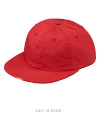 9811e2a675c Supreme Fw17 Nylon Visor Label 6 Panel Hat Red