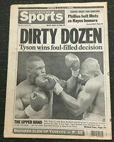 Mike Tyson vs Razor Ruddock II - Boxing - 1991 New York Daily News Newspaper