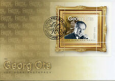 More details for estonia music stamps 2020 fdc georg ots opera singers famous people 1v m/s