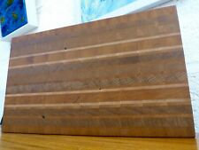 End Grain Cooking Chopping Board Butcher Block Hardwood, Handmade Reversible #12