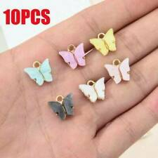 Fashion 10X Butterfly Setting Acrylic Charms Lovely DIY Animal Pendant Jewelry