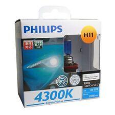 Philips H11 Crystal Vision 4300K 12V 55W Halogen Bulbs CV-H11-2