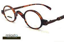 NWT$39.99 MIASTO RETRO MINI SMALL OVAL ROUND READER READING GLASSES+3.00TORTOISE