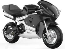 MotoTec Phantom Gas Pocket Bike 48.9cc 2-Stroke Black Air Cooled EPA Approved