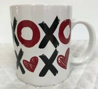 XOXO Hugs & Kisses I Love You Be Mine Forever Coffee White Deep Red Mug