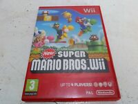 New Super Mario Bros Wii, Nintendo Wii - Comes with Manual - Free p&p