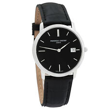 Frederique Constant Slim Line Black Sunray Men's Swiss Made Watch FC-220NG4S6