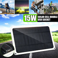 15W Solar Panel Charger Cell Phone MP3 Pad USB Port 5V Portable Outdoor  *