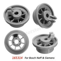 4pcs Dishwasher Lower Bottom Basket Rail Wheel 165314 For Bosch Neff &