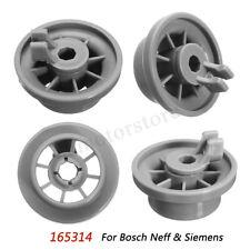 New listing 4pcs Dishwasher Lower Bottom Basket Rail Wheel For Bosch & Siemens 165314 *
