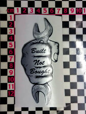 Built Not Bought Fist Sticker -Bike Classic Cafe Racer Custom Car Bobber Hot Rod