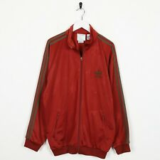 Vintage 80s ADIDAS Small Logo Track Top Jacket Red Large L