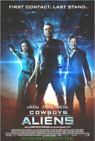 COWBOYS AND ALIENS MOVIE POSTER DS 27x40 S.Spielberg DANIEL CRAIG HARRISON FORD