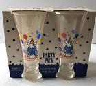 1987 Bud Light Spuds Mackenzie Pilsner Beer Glasses Set of 4 Party Pack New