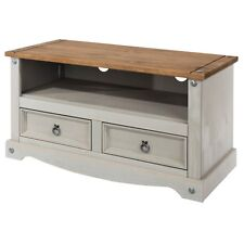 Premium Corona Solid Pine Grey Wash Living Dining & Occasional Furniture Range Nest of 3 Tables
