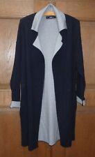 Zara Knit lange Feinstrickjacke long Jacke schwarz + grau Gr M bzw 38