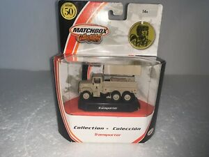 Matchbox Collectibles, 1:64 scale, M34 2 1/2-Ton Military Transporter, #97056