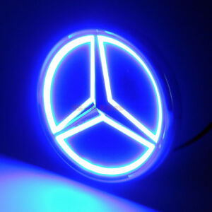 5D LED Car Tail Logo Blue Light Badge Emblem Light For Mercedes-Benz S350 S300L