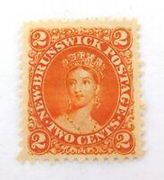 .NEWFOUNDLAND 1860s QV 2c MH NICE GRADE STAMP.
