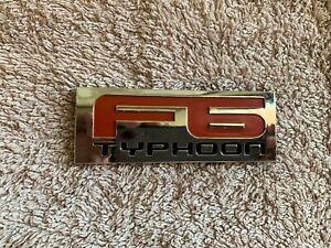 TYPHOON F6 REAR BOOT BADGE X 1 SUIT BA BF FPV SERIES