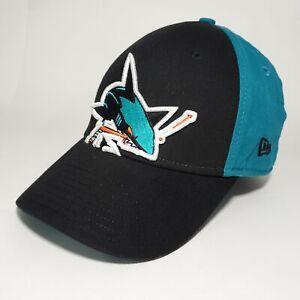 New Era San Jose Sharks NHL Hockey 3-D Embroidered Youth Adjustable Cap Hat Blue
