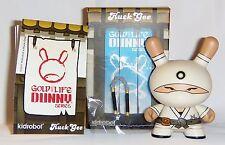 Kidrobot HUCK GEE Gold Life Dunny Zero Clan Ninja White 1/16 KR Nunchucks Vinyl