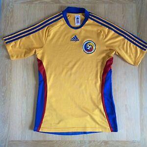 Romania Football Shirt Adidas Yellow Size S