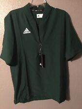 Nwts Adidas Short Sleeve Quarter-Zip Polo Golf Green Mens S Small Shirt New