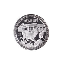 Silver plated Chinese zodiac pig anniversary commemorative coins souvenir c GT