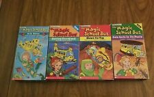 Lot of 4 VHS The Magic School Bus kids educational Scholastic - home school