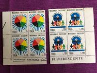 ITALIA 1977 QUARTINA MISSIONARI SALESIANI    MNH** LUSSO