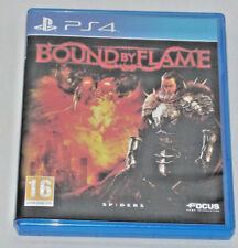 SONY PLAYSTATION PS4 GAME BOUND BY FLAME 16 PAL SPIDERS FOCUS DOLBY DIGITAL DTS.