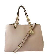** MICHAEL KORS CYNTHIA Pink Leather  MD Satchel Bag MSRP $298.00