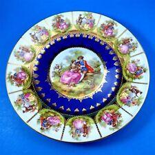 """SWT Beehive Bavaria Cobalt Fragonard Love Story Dinner Plate 10 3/4"""""""
