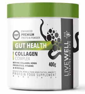 Hydrolysed Bovine Gut Health Collagen Protein Powder – Probiotics, Enzymes, Zinc
