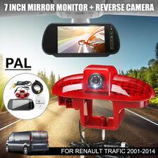 Rear View Reversing Camera 3RD Brake Light +7'' Monitor For Renault Trafic 01-14