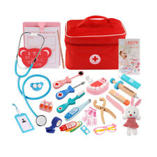 Portable Pretend Play Medical Set Kids Doctor Role Play Educational Play Toy Kit