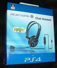 Official PS4 Wired Chat Headset BLACK Playstation 4 PS4 NEW SEALED FREE UK p&p