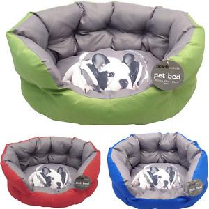 Luxury Thick Padded Designer Dog Puppy Pet Basket Bed Cushion Hard Wearing